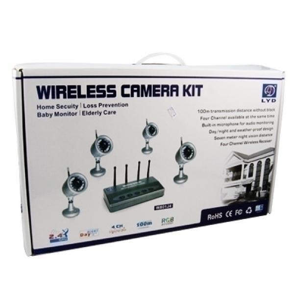 Безжична система с 4 камери с 30 ir диода, модел RC530A
