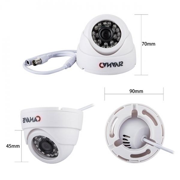 Комплект Canavis - 4 Kуполни камери с DVR, 1MPX, 720p, HD