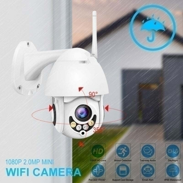 PTZ, Водоустойчива WIFI IP FULL HD 1920Х1080, 2.0MP 360°, модел N1